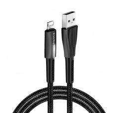 ДАТА КАБЕЛЬ COLORWAY USB 2.0 AM TO LIGHTNING 1.0M ZINC ALLOY + LED BLACK (CW-CBUL035-BK)
