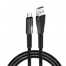ДАТА КАБЕЛЬ COLORWAY USB 2.0 AM TO MICRO 5P 1.0M ZINC ALLOY + LED BLACK (CW-CBUM035-BK)