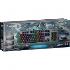 КЛАВІАТУРА DEFENDER ASSAULT GK-350L RU USB GREY-METALL (45350)