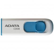 USB ФЛЕШ НАКОПИЧУВАЧ ADATA 32GB C008 WHITE USB 2.0 (AC008-32G-RWE)