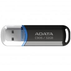 USB ФЛЕШ НАКОПИЧУВАЧ ADATA 32GB C906 BLACK USB 2.0 (AC906-32G-RBK)