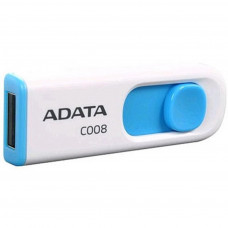 USB ФЛЕШ НАКОПИЧУВАЧ ADATA 64GB C008 WHITE+BLUE USB 2.0 (AC008-64G-RWE)