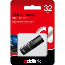 USB ФЛЕШ НАКОПИЧУВАЧ ADDLINK 32GB U55 BLACK USB 3.1 (AD32GBU55B3)
