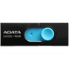 USB ФЛЕШ НАКОПИЧУВАЧ ADATA 16GB UV220 BLACK/BLUE USB 2.0 (AUV220-16G-RBKBL)