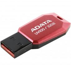 USB ФЛЕШ НАКОПИЧУВАЧ ADATA 32GB DASHDRIVE UV100 RED USB 2.0 (AUV100-32G-RRD)